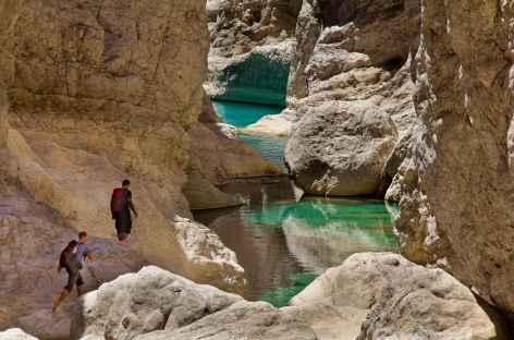 Rando aquatique dans le Wadi Bani Khalid- Oman -
