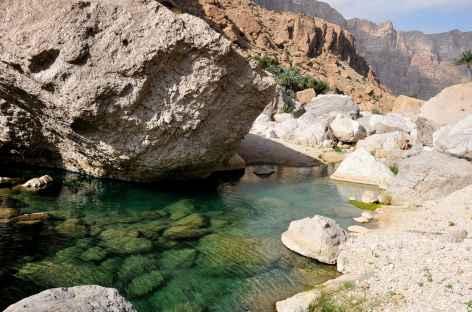 Vasque dans le Wadi Shab - Oman -