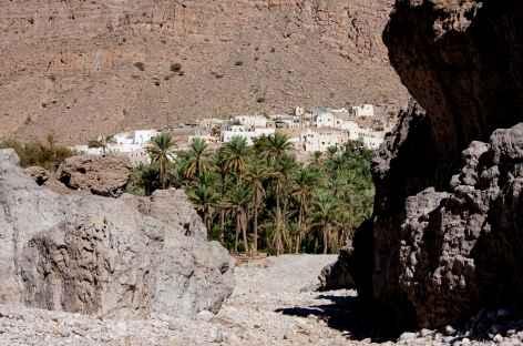 Villahge de Bidah, entrée du Wadi Bani Khalid - Oman -