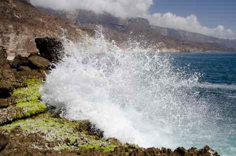 Plage de Mughsail, région du Dhofar - Oman -