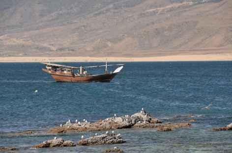 Littoral et boutre du Dhofar - Oman -