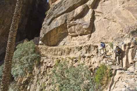 La gorge qui permet d'accéder au village de Balad Sit - Oman -