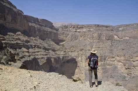 Randonnée en balcon, Grand Canyon d'Arabie - Oman -