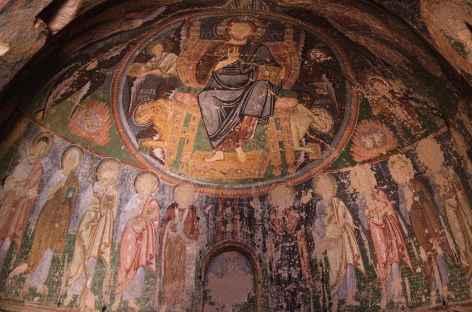 Intérieur d'une église troglodyte de Cappadoce - Turquie -