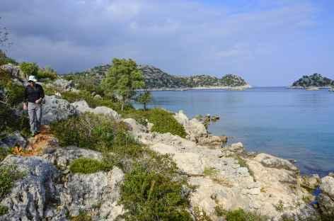 Randonnée côtière vers la baie de Gokkaya, Lycie - Turquie -