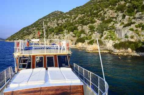 Excursion en caïque dans la baie de Kekova, Lycie - Turquie -