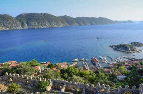 Baie de Kekova depuis la forteresse de Simena, Lycie - Turquie -