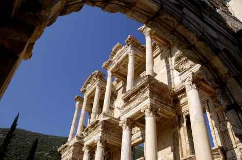 Bibliothèque dans la cité antique d'Ephèse - Turquie -