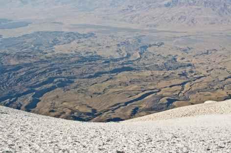 Anciennes coulées de sur le versant sud du volcan - Turquie -