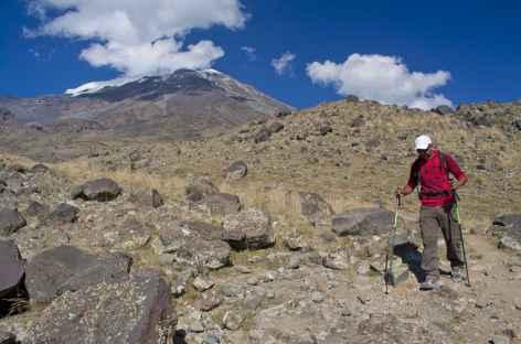 Première étape au dessus du village de Cevirmen (2200 m) - Turquie -