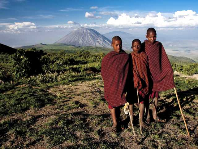 Région masaï, entre le Ngorongoro et le volcan Lengai - Tanzanie, © Julien Erster - TIRAWA
