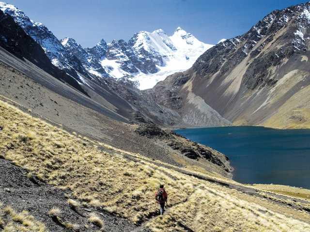 Cordillère Royale, marche face au Condoriri - Bolivie, © Julien Freidel - TIRAWA