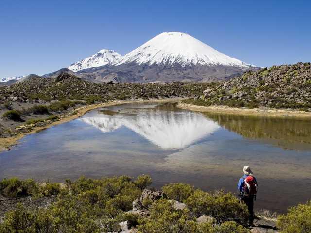 Le Parinacota depuis le Chili, © Christian Leroy - TIRAWA