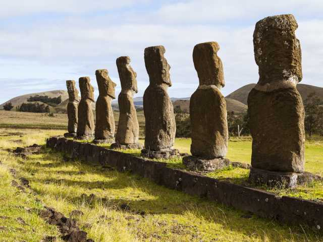 Ile de Pâques, site de Ahu Akivi - Chili - Chili, © Christian Leroy - TIRAWA