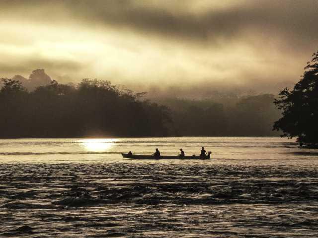 Coucher de soleil sur le rio San Carlos - Nicaragua, © Jean Jacques Jadot