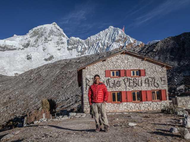 Arrivée au refuge Peru au pied des Huandoy (6395 m) - Pérou, © Christian Juni - TIRAWA