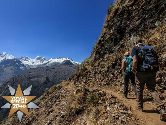 Derniers efforts avant le col San Juan (4120 m) - Pérou, © Stéphane Vallin