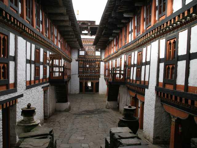 Cours intérieures du dzong de Jakar, © Thierry Monniez - Tirawa