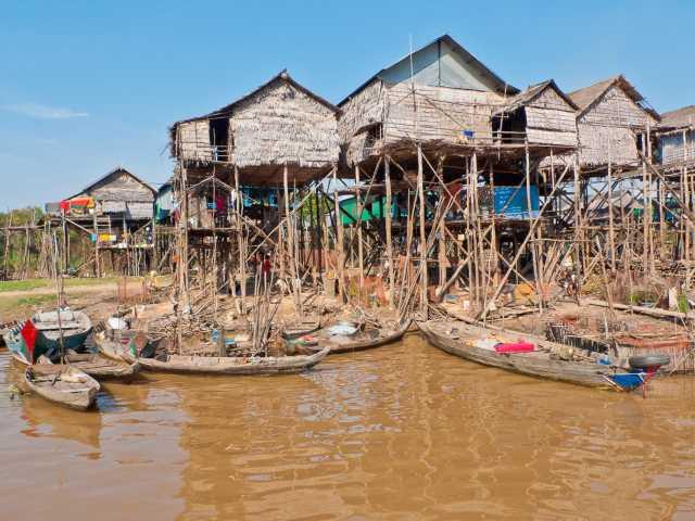 Village sur pilotis de Kompong Phluk - Cambodge, © Christian Juni - TIRAWA