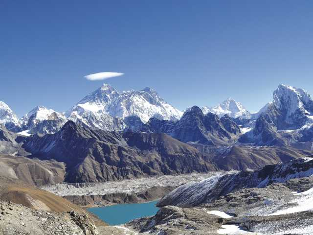 L'Everest depuis le Renjo la (5340 m) - Nepal, © Séverine Berthet - Tirawa