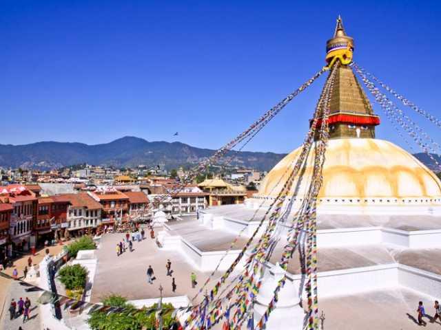 Vue du Stupa de Bodnath - Népal, © Thierry Monniez - Tirawa