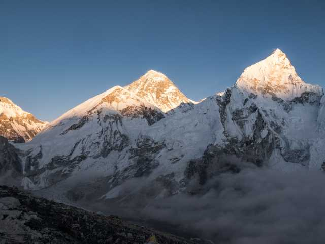 Coucher de soleil sur Everest et Nupse - Népal, © Christian LEROY - Tirawa