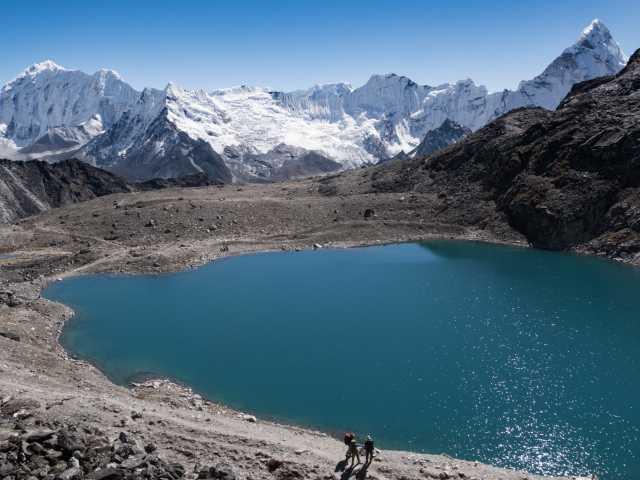 Le lac sous le Kongmala - Népal, © Christian Leroy - Tirawa