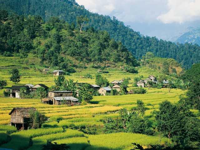Vallée de la Marsyangdi Khola - Népal, © Robert Dompnier - Tirawa