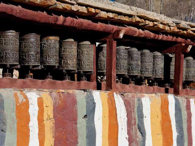 Moulins à prières de Tsarang, Mustang - Népal,