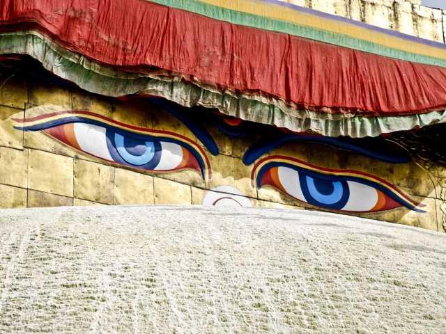 Les yeux de bouddha, l'emblème du Népal, © - Tirawa