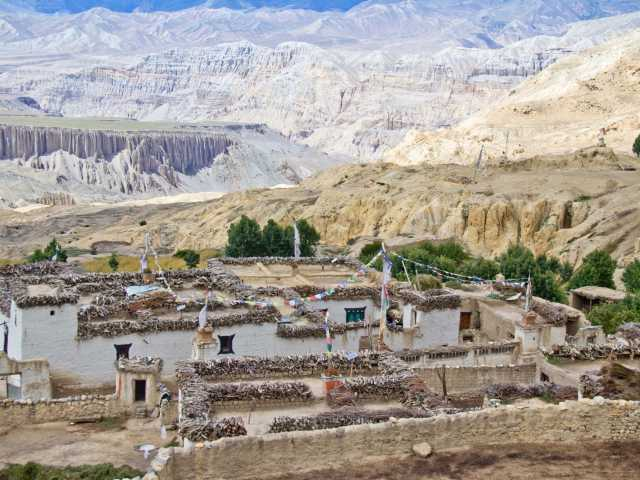 Village du Mustang, Népal, © Christian Leroy - TIRAWA