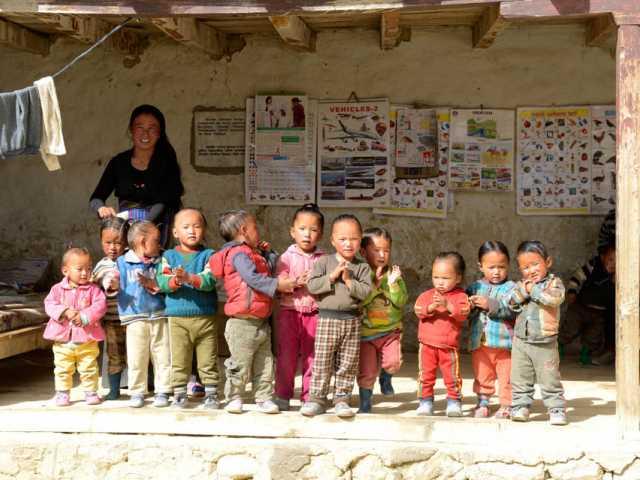 Ecole maternelle à Lo Monthang, © Robert Dompnier