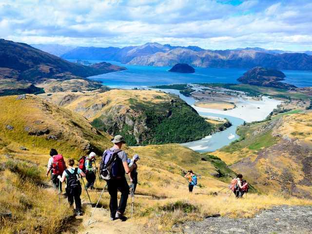Randonnée de Diamond Lake, dominant le lac de Wanaka - Nouvelle Zélande, © Julien Erster - TIRAWA