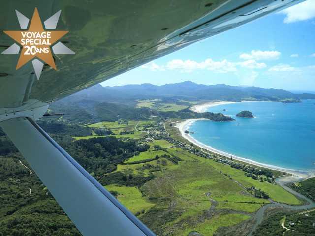 Vol d'Auckland pour Great Barrier Island - Nouvelle Zélande, © Christian Juni - TIRAWA