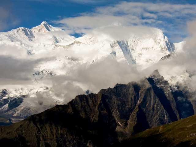 Vue sur les sommets au cours du trek - Tibet, © Christian Juni - Tirawa