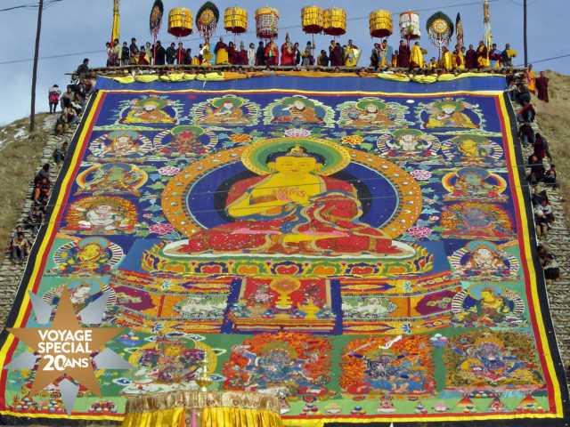 Fameuse Tangka de Repgong - Tibet, © Catherine Serret - TIRAWA