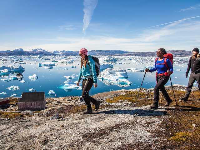Fjord de glace Sermilik depuis la crête de Tiniteqilaq - Groenland, © Björgvin Hilmarsson