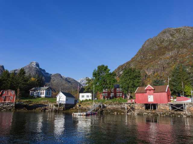 Maisons traditionnelles, Lofoten - Norvège, © Polaris Expéditions
