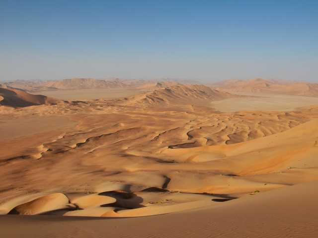 Randonnée dans les dunes du Rub Al Khali - Oman, © Claude George-Molland