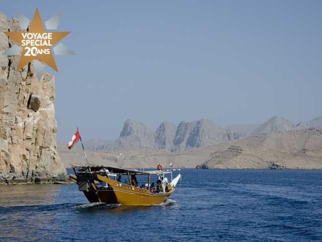 Sortie en boutre dans le fjord du Musandam - Oman, © Julien Erster - TIRAWA