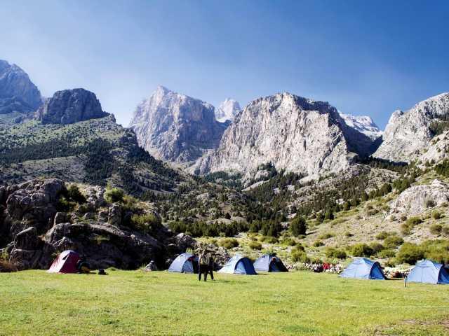 Camp au plateau d'Alaca, Massif du Taurus - Turquie, © Christian Leroy - TIRAWA