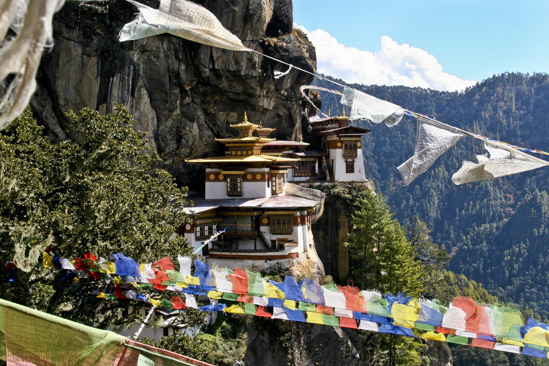 Le Monastère de Taktshang au Bhoutan
