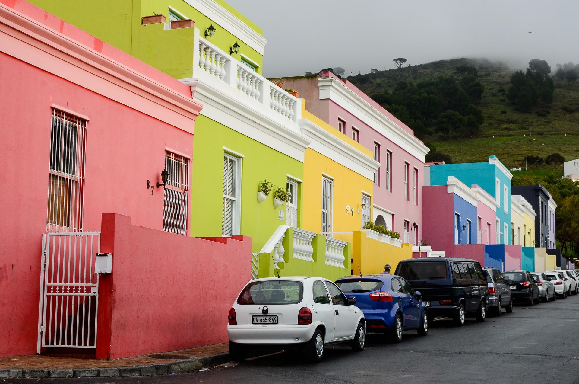 Maisons colorées de Bo Kaap