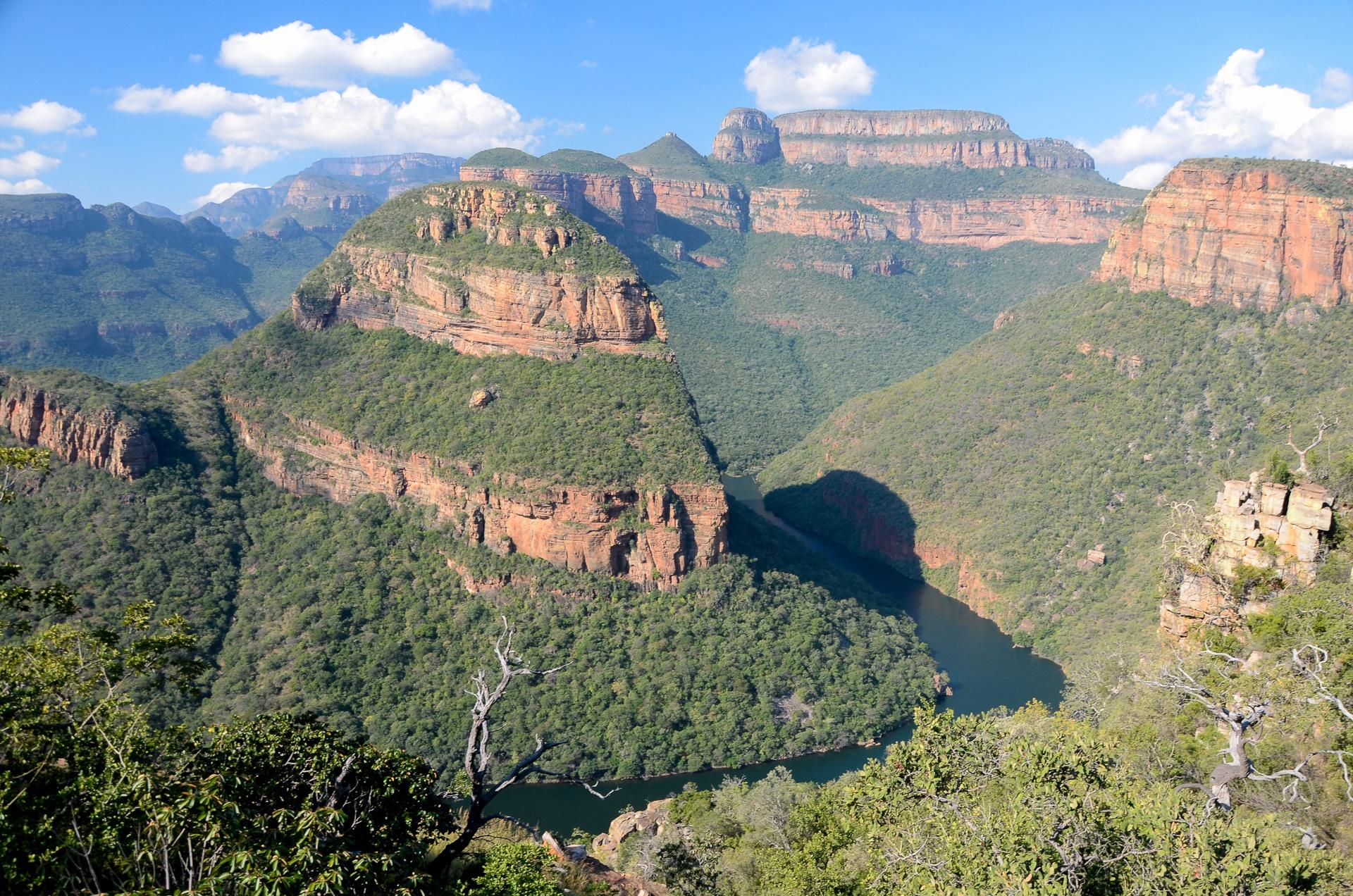 Rando face aux Three Rondavels, Blyde River Canyon