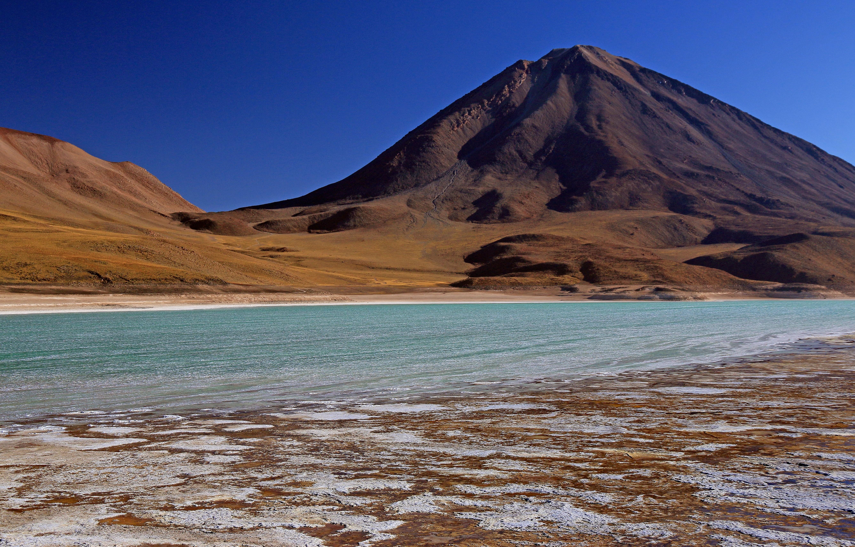 Laguna verde Licancabur Bolivie