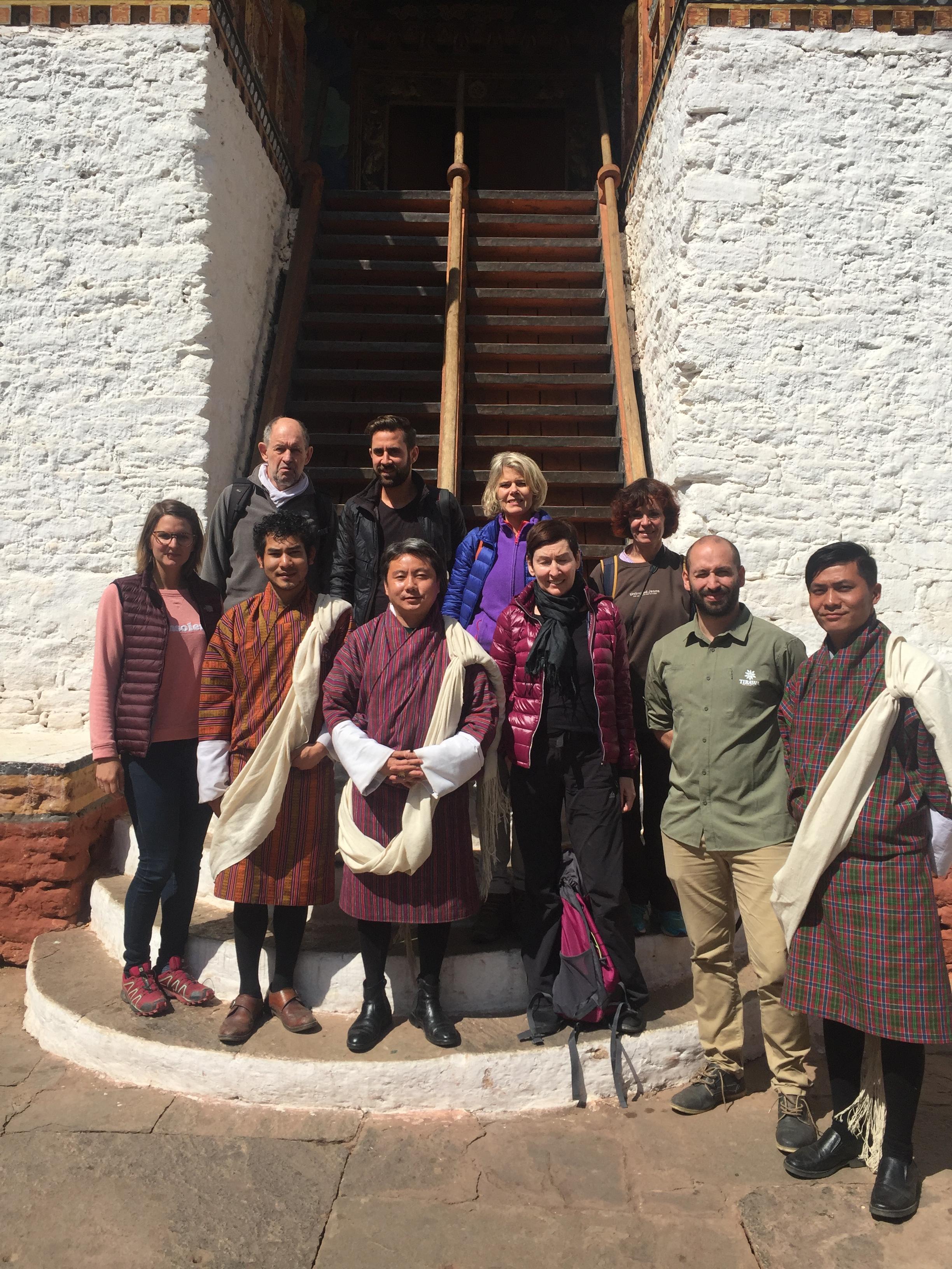 Groupe voyage bhoutan avec Tirawa