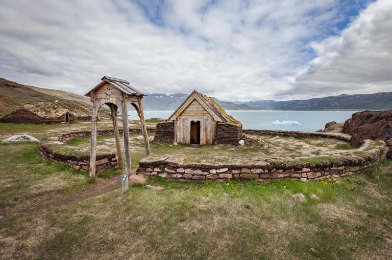 Brattahlíd, ancienne ferme d'Erik le Rouge - Groenland - Crédit : Björgvin Hilmarsson