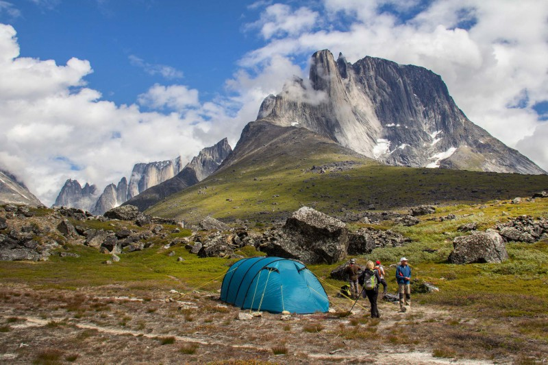Camp dans le fjord de Tasermiut, Patagonie Arctique - Groenland - Crédit : Einar Torfi Finnsson