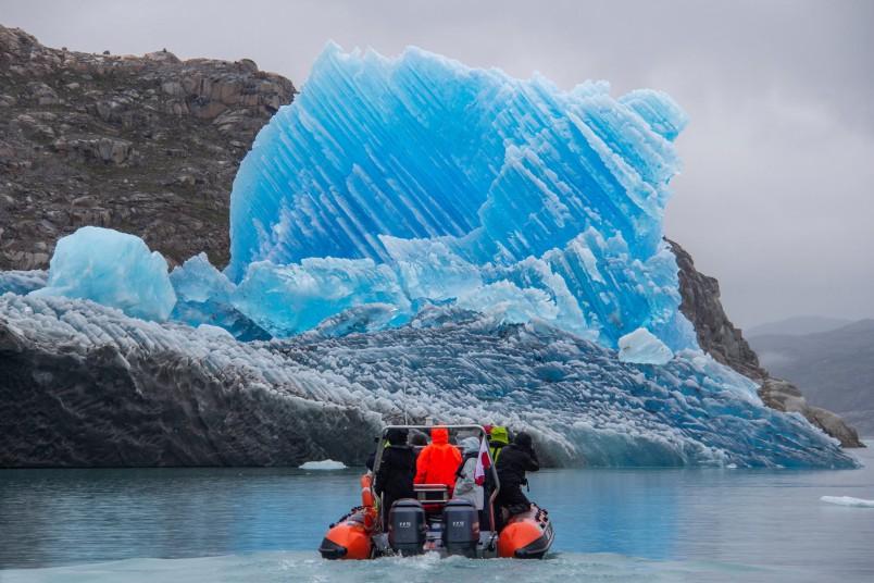 Navigation dans le fjord de glace bleue - Groenland - Crédit : Einar Torfi Finnsson