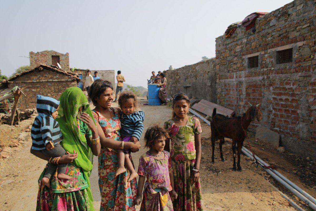 Famille indienne rajastahn